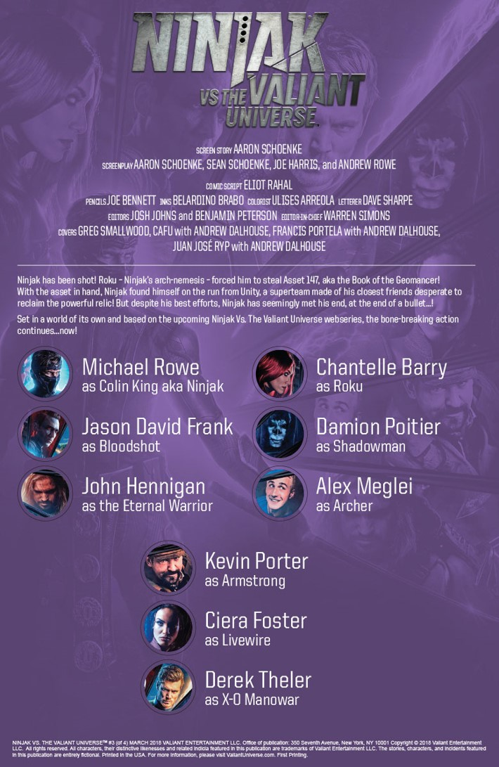 NJKVS_003_001 ComicList Previews: NINJAK VS THE VALIANT UNIVERSE #3