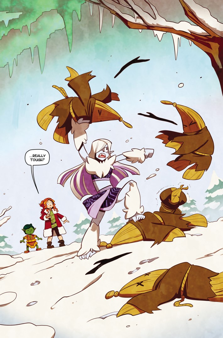 NS01-15-FrostinaVsStrawLads ComicList Previews: NORTHSTARS VOLUME 1 WELCOME TO SNOWVILLE HC