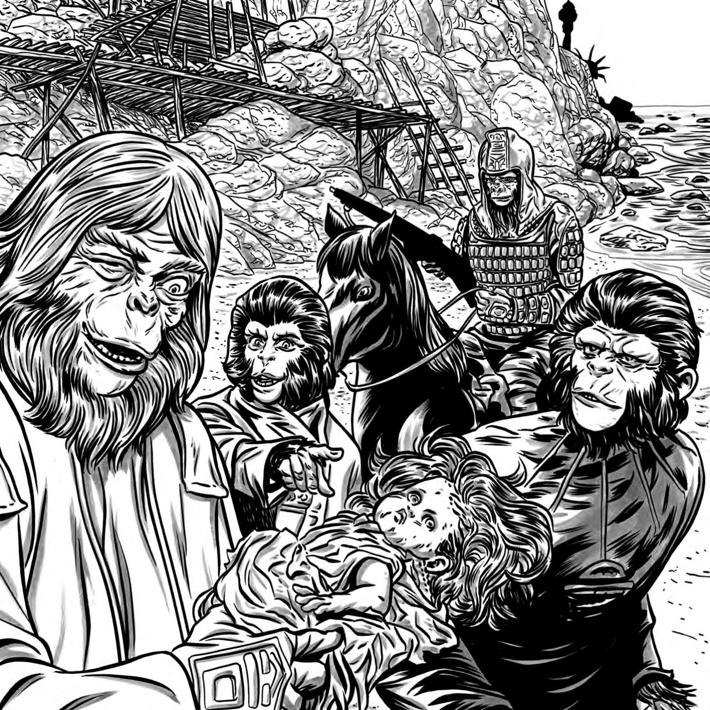 POTA_ColoringBook_PRESS_27 ComicList Previews: PLANET OF THE APES ADULT COLORING BOOK SC