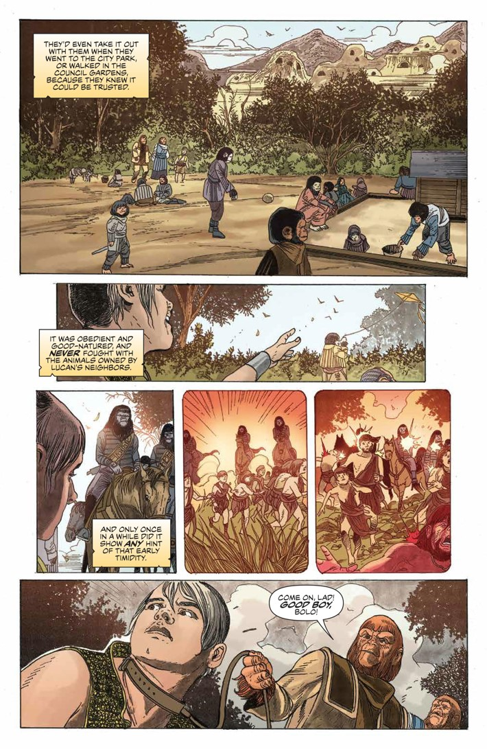 POTA_TimeofMan_001_PRESS_17 ComicList Previews: PLANET OF THE APES THE TIME OF MAN #1