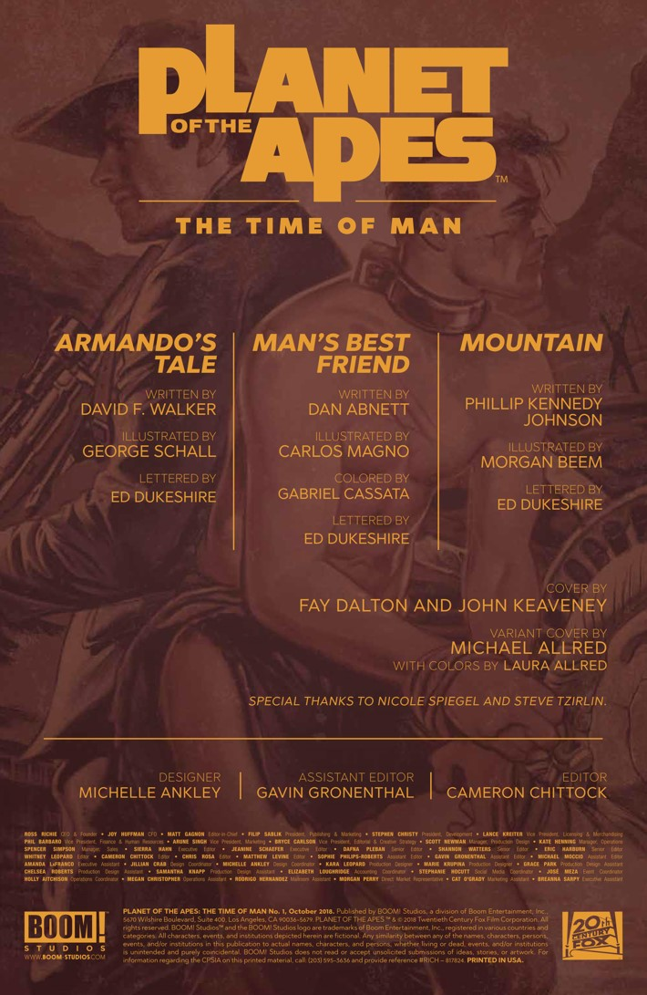 POTA_TimeofMan_001_PRESS_2 ComicList Previews: PLANET OF THE APES THE TIME OF MAN #1