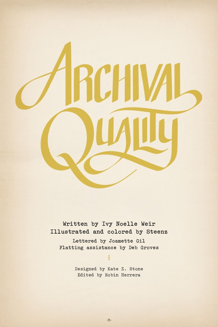 Pages-from-ARCHQUAL-V1-MARKETING-2 ComicList Previews: ARCHIVAL QUALITY GN