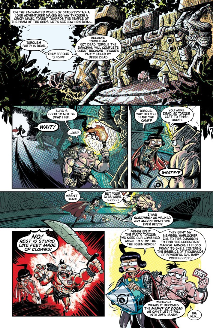 Pages-from-INVADERZIM-40-REFERENCE-6 ComicList Previews: INVADER ZIM #40