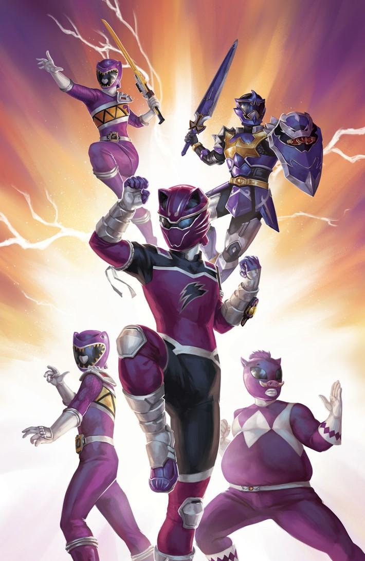 PowerRangers_035_C_Variant ComicList Previews: MIGHTY MORPHIN POWER RANGERS #35