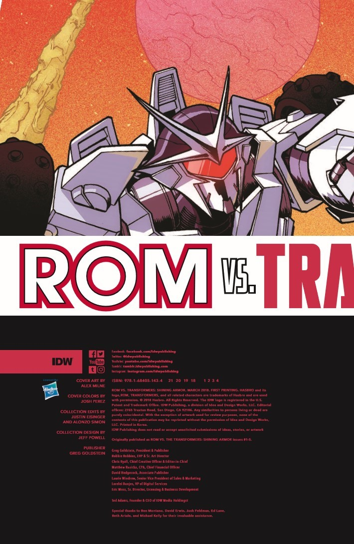 ROMvsTF_TPB-pr-2 ComicList Previews: ROM VS THE TRANSFORMERS SHINING ARMOR TP