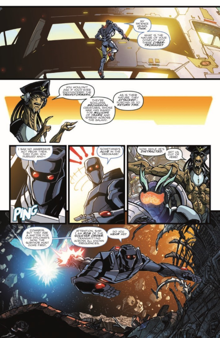 ROMvsTF_TPB-pr-6 ComicList Previews: ROM VS THE TRANSFORMERS SHINING ARMOR TP
