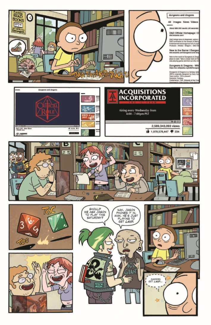 Rick_Morty_DnD_TPB-pr-7 ComicList Previews: RICK AND MORTY VS DUNGEONS AND DRAGONS TP