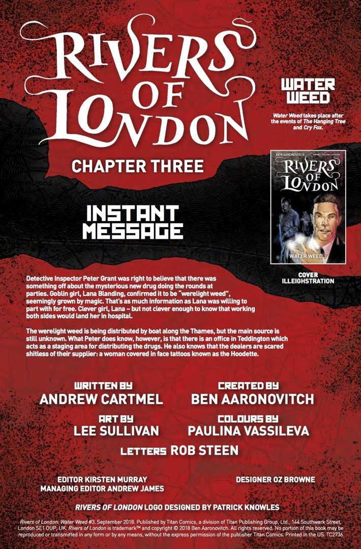 Rivers_of_London_Water_Weed_3_Credits ComicList Previews: RIVERS OF LONDON WATER WEED #3