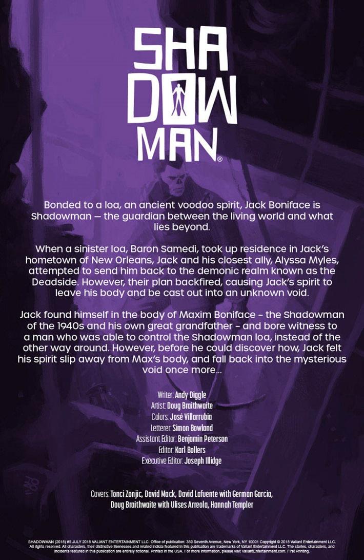 SM2018_005_001 ComicList Previews: SHADOWMAN (2018) #5
