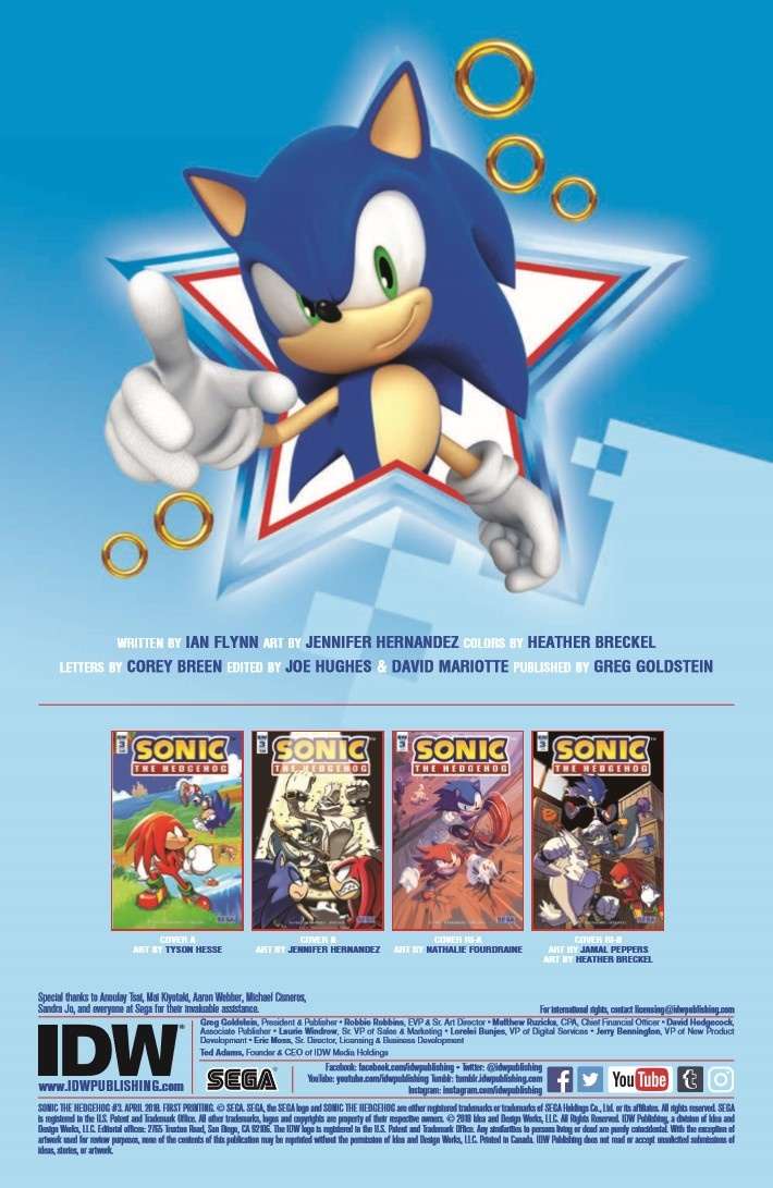 SONIC_03-pr-2 ComicList Previews: SONIC THE HEDGEHOG #3