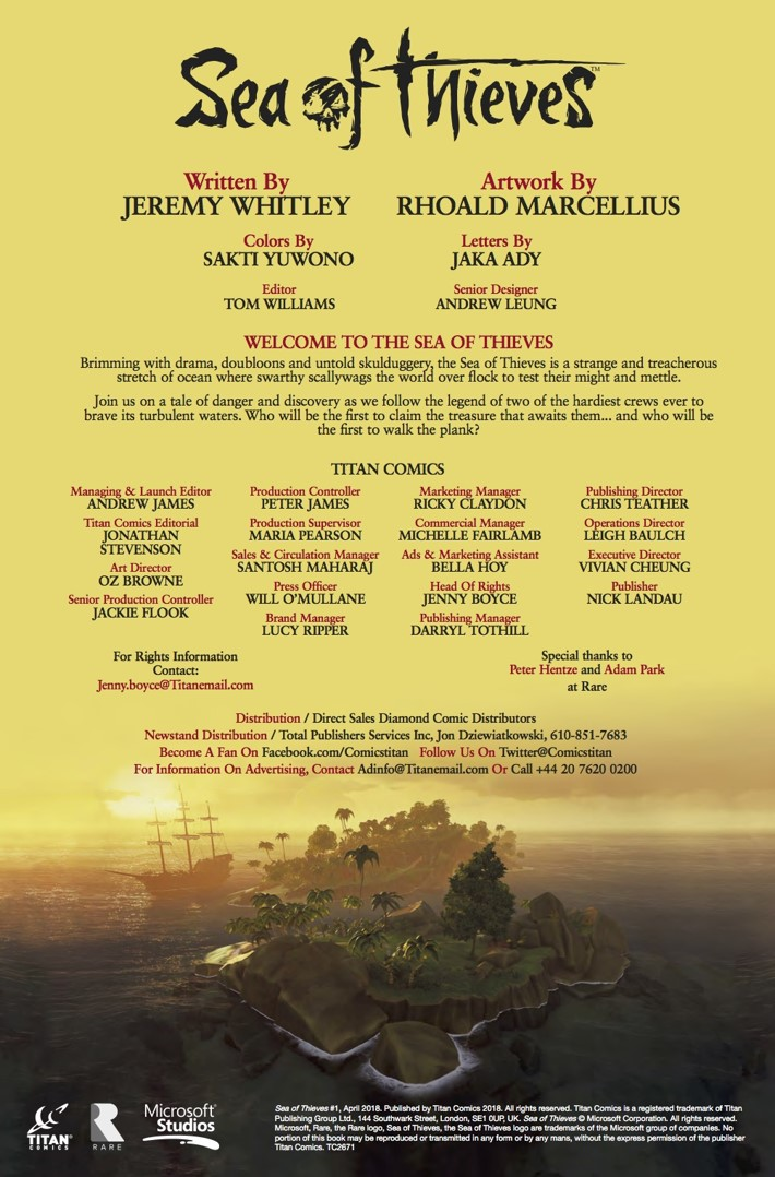 Sea_of_Thieves_1_Credits ComicList Previews: SEA OF THIEVES #1