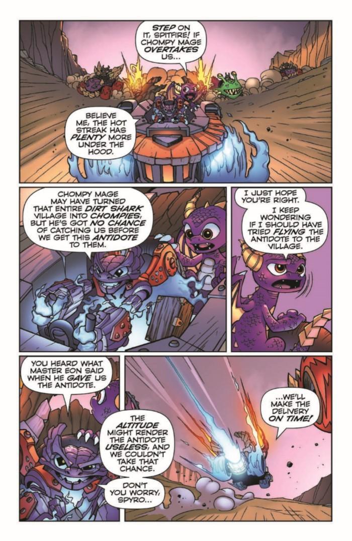 SkylandersQuarterly_BitingBack-pr-6 ComicList Previews: SKYLANDERS QUARTERLY SPYRO AND FRIENDS #3 (BITING BACK)