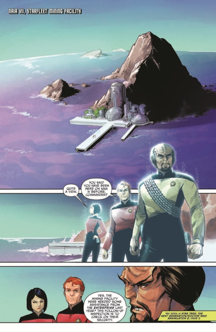 StarTrekTNG_ThroughTheMirror_01-pr-3 ComicList Previews: STAR TREK THE NEXT GENERATION THROUGH THE MIRROR #1