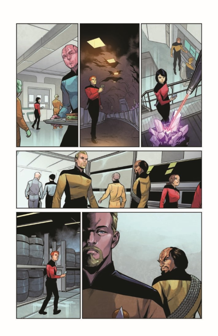 StarTrekTNG_ThroughTheMirror_01-pr-6 ComicList Previews: STAR TREK THE NEXT GENERATION THROUGH THE MIRROR #1