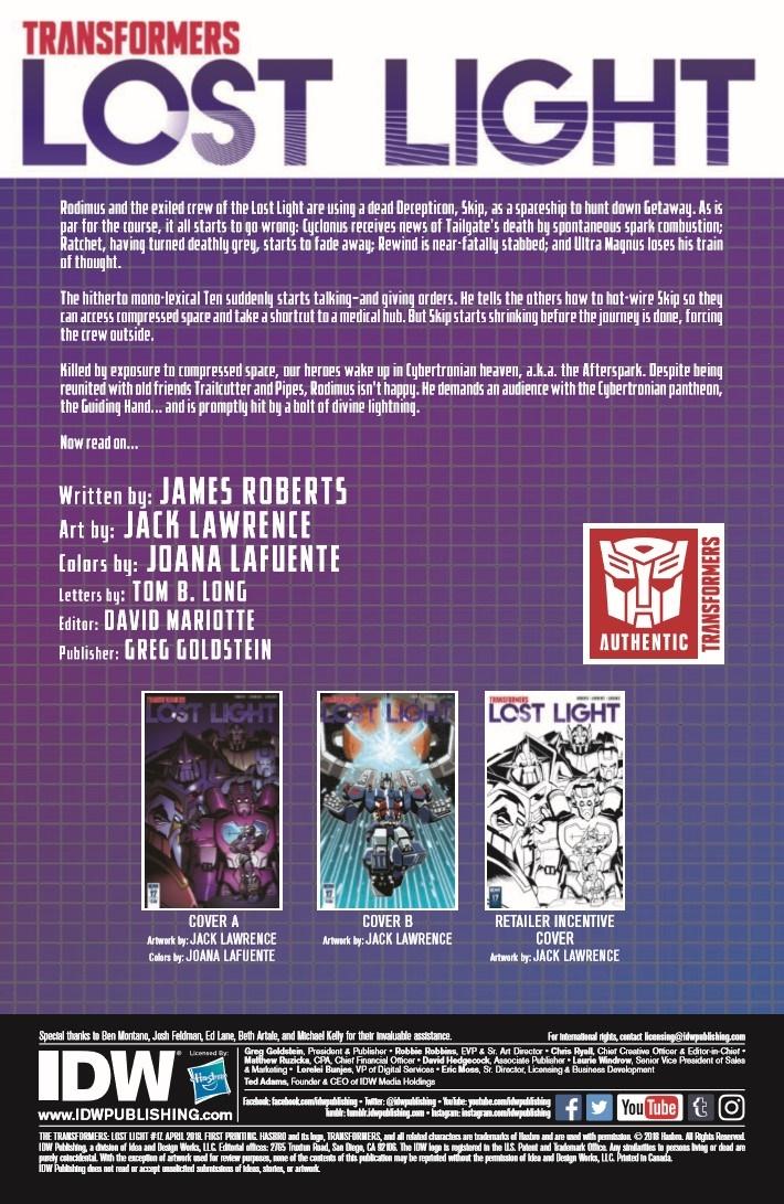 TF_LostLight_17-pr-2 ComicList Previews: TRANSFORMERS LOST LIGHT #17
