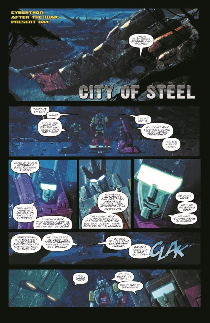 TF_RedemptionDinobots-pr-4 ComicList Previews: TRANSFORMERS REDEMPTION OF THE DINOBOTS TP