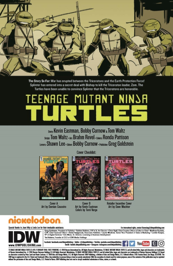 TMNT_79-pr-2 ComicList Previews: TEENAGE MUTANT NINJA TURTLES #79
