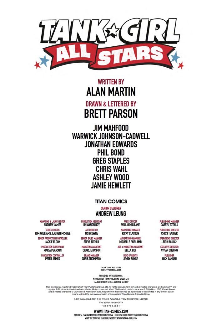 Tank_Girl_All_Stars_collection_credits ComicList Previews: TANK GIRL ALL STARS HC