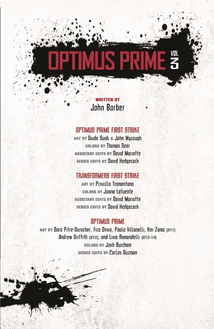 Transformers_OptimusPrime_Vol3-pr-3 ComicList Previews: TRANSFORMERS OPTIMUS PRIME VOLUME 3 TP