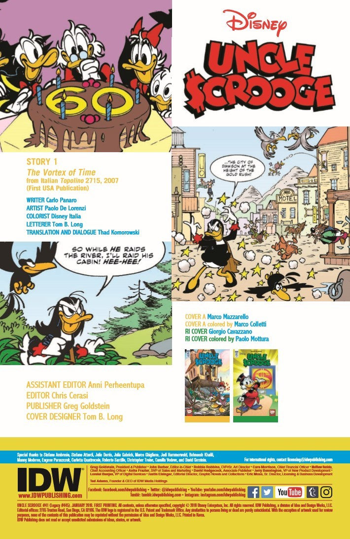Uncle_Scrooge_41-pr-2 ComicList Previews: UNCLE SCROOGE #41