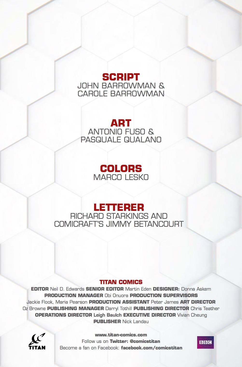 Torchwood_Vol1_Credits ComicList Preview: TORCHWOOD VOLUME 1 WORLD WITHOUT END TP