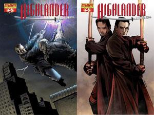 Highlander5 DFE: Dynamite'S Highlander Series Welcomes Duncan Macleod In Issue #5