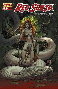 RED1cover DFE: Red Sonja Hardcover Collection and Statue