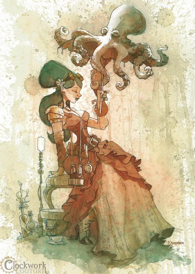 Interview With Steampunk Octopus Artist Brian Kesinger