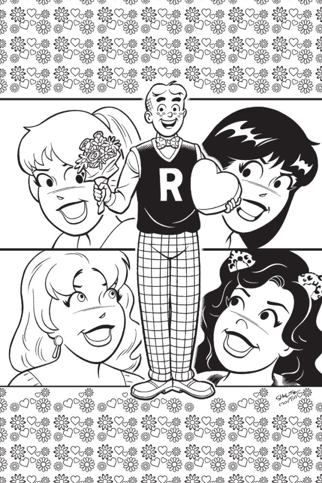 betty and veronica coloring pages - photo#23