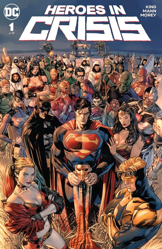 Heroes in Crisis #1 cover by Clay Mann and Tomeu Morey