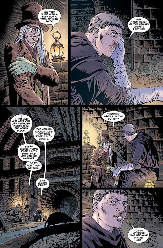 Bloodborne #6 art by Piotr Kowalski, Brad Simpson, and letterer Aditya Bidikar