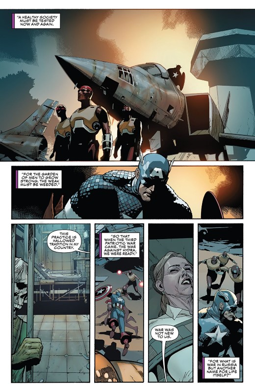 Captain America #4 art by Leinil Francis Yu, Gerry Alanguilan, and Sunny Gho