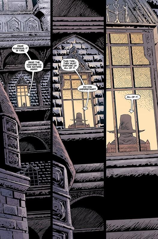 Bloodborne #7 art by Piotr Kowalski, Brad Simpson, and letterer Aditya Bidikar