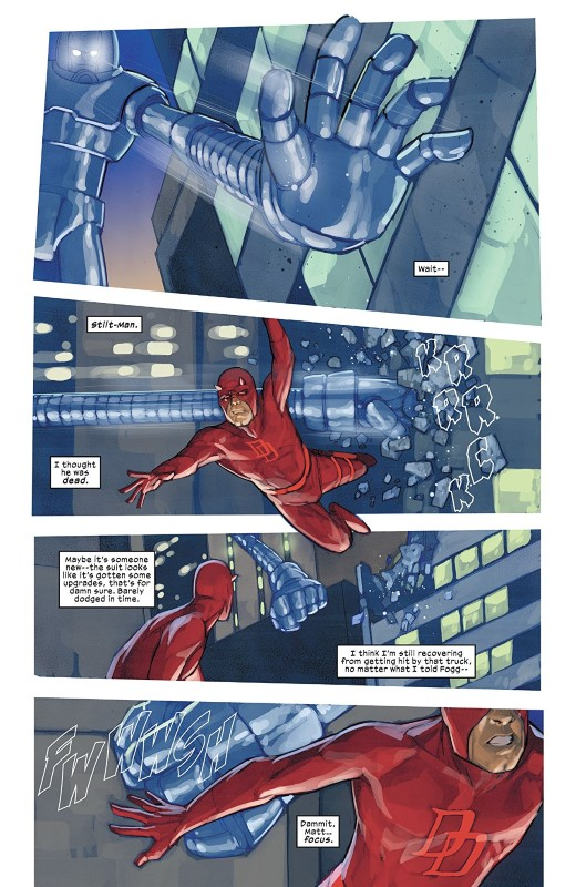 Daredevil #611 art by Phil Noto and letterer VC's Clayton Cowles