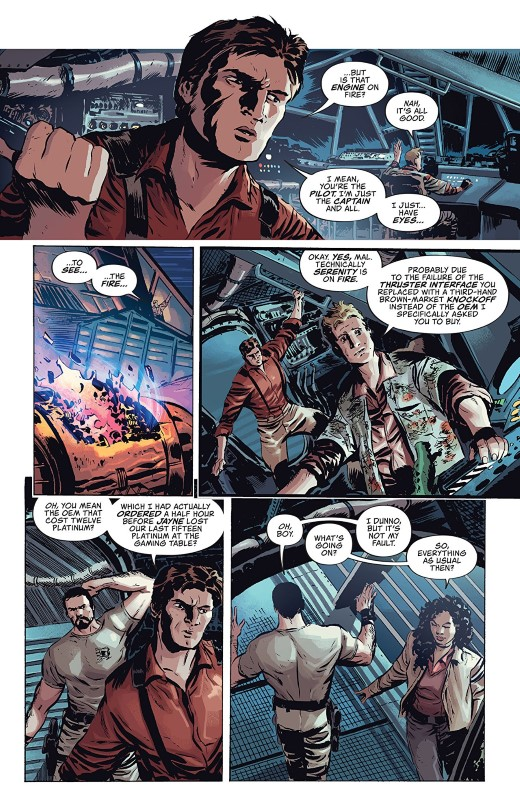 Firefly #1 art by Dan McDaid, Marcelo Costa, and letterer Jim Campbell
