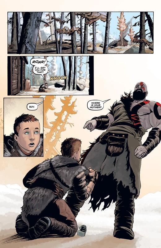 God of War #1 art by Tony Parker, Dan Jackson, and letterer Comicraft's John Roshell