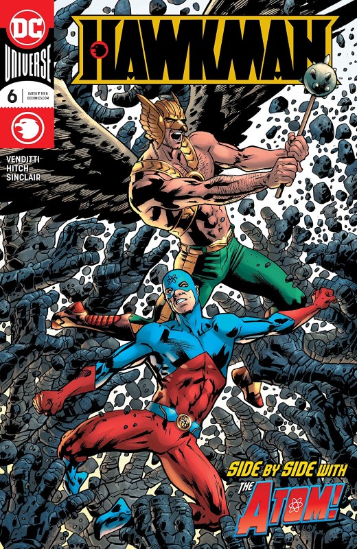 Hawkman #6 cover by Bryan Hitch and Alex Sinclair
