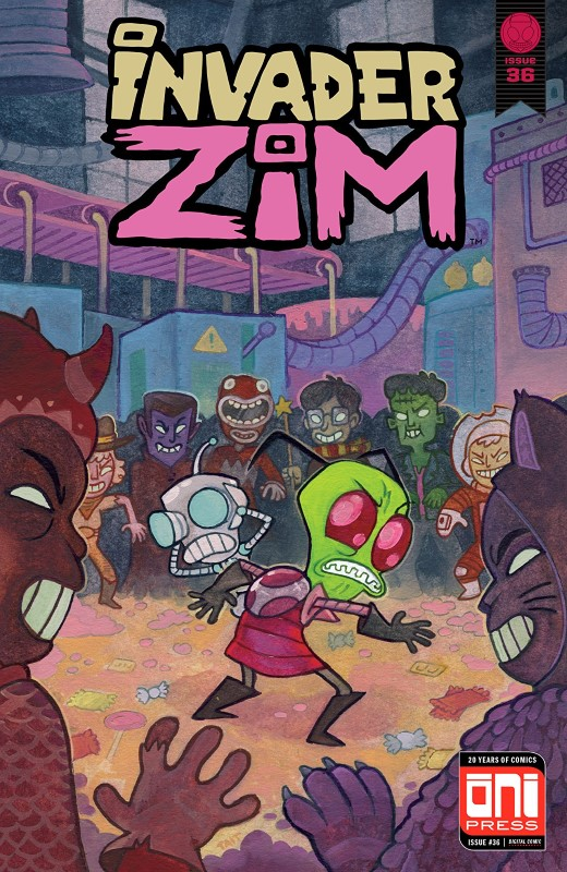 Invader Zim #36 cover by Tait Howard and Matthew Seely