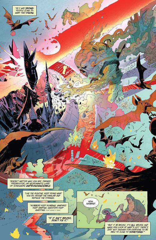 Coda #7 art by Matias Bergara, Michael Doig, and letterer Jim Campbell