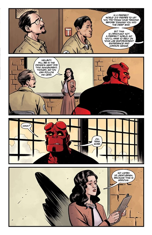 Hellboy and the B.P.R.D: 1956 #1 art by Yishan Li, Mike Norton, Michael Avon Oeming, and Dave Stewart