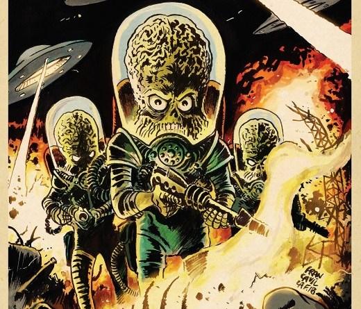 Mars Attacks! #3 cover by Francesco Francavilla