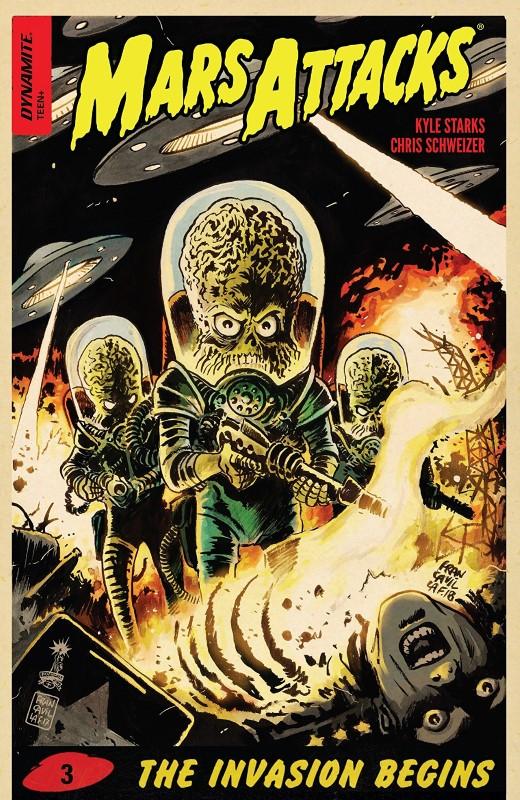 Mars Attacks #3 cover by Francesco Francavilla