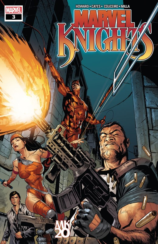 Marvel Knights 20th #3 cover by Geoff Shaw and Rain Beredo