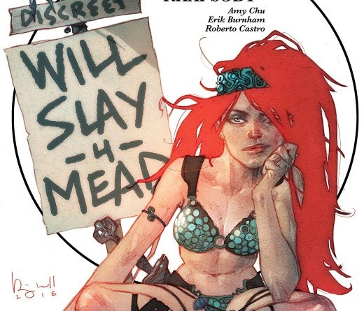 Red Sonja #23 cover by Ben Caldwell