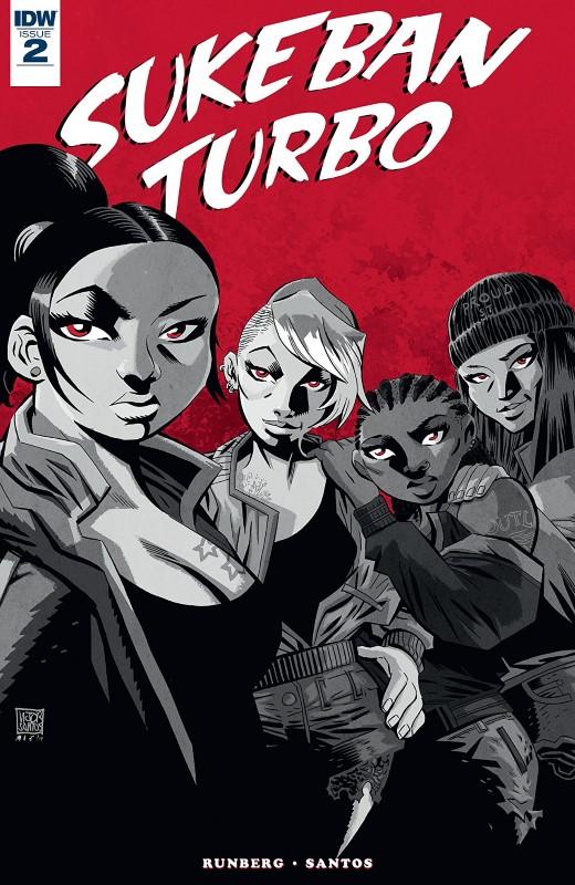Sukeban Turbo #2 cover by Victor Santos