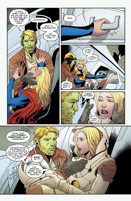 Supergirl #25 art by Emanuela Lupacchino, Ray McCarthy, FCO Plascencia, and letterer Tom Napolitano