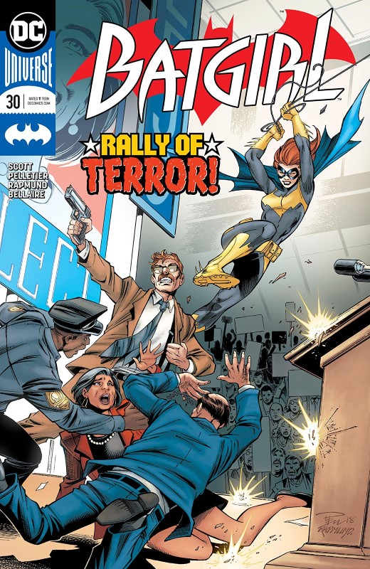 Batgirl #30 cover by Paul Pelletier, Norm Rapmund, and Jordie Bellaire