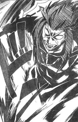 Saïx's berserker form in the Kingdom Hearts II manga by Shiro Amano
