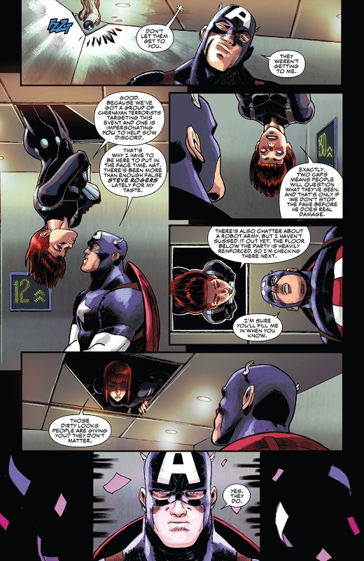 Black Widow #1 art by Flaviano, Veronica Gandini, and letterer VC's Joe Caramagna