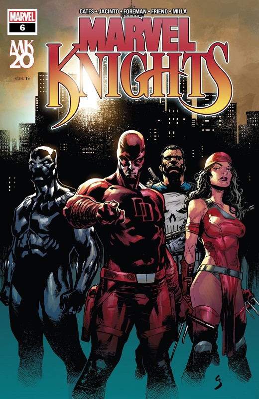 Marvel Knights 20th #6 cover by Geoff Shaw and Rain Beredo